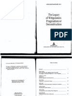 Nagl L., Mouffe Ch.-the Legacy of Wittgenstein Pragmatism or Deconstruction-Peter Lang Pub Inc(2001)
