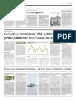 Gobierno levantará US$ 1,000 millones en bonos en soles_Gestión 10-03-2014
