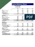 Pro Forma Bal Sheet