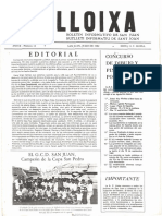 LLOIXA. Número 13, julio/juliol 1982. Butlletí informatiu de Sant Joan. Boletín informativo de Sant Joan. Autor
