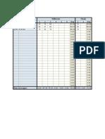 Teacher's Grade Sheet (Online)