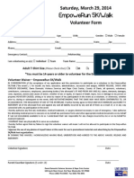 5K Volunteer Form