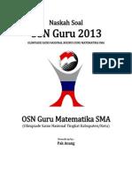 Naskah Soal OSN Guru Matematika SMA 2013 Tingkat Kabupaten Kota(1)