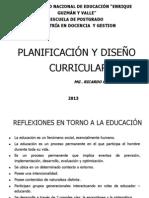 PLANIFICACIÓN Y DISEÑO CURRICULAR DIAPOSITIVAS IMPRESION 2007