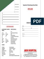 Physio Opd Card