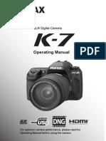 Pentax K-7 Operating Manual