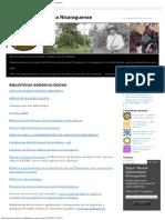 BIBLIOTECAS AGROECOLÓGICAS _ Revista Agroecológica Nicaraguense