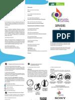 Folleto de Servicios y Actividades DDC-2014-2