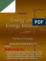 Chapter 4 Energy and Energy Balance