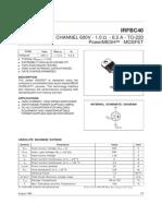 datasheet IRFBC40