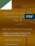 Chap. 3.4 Mass Balance Reactive System Part B