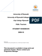 City College Plymouth Tourism Student Handbook 2009-10