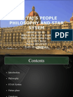 THE TAJ'S PEOPE PHILOSOPHY AND STAR SYSEM