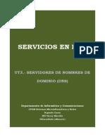 UT3.- Servidores de Nombres de Dominio
