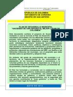 Plan de Desarrollo 2012 2015 SAN ANTERO