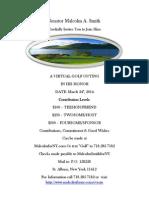 """Sen. Malcolm Smith's """"virtual golf"""" fundraiser."""