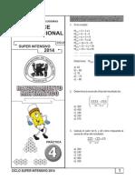 Práctica Nº 04 -  Inducción y Deducción Matemática TRILCE