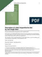 description of a new vespertillon
