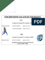 Affiche Inscriptions 1