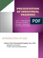 Presentation of Industrial Training
