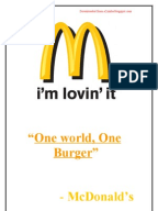 mcdonalds marketing hamburgers case study
