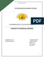 Concept of Judicial Review