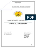 Concept of Judicial Review
