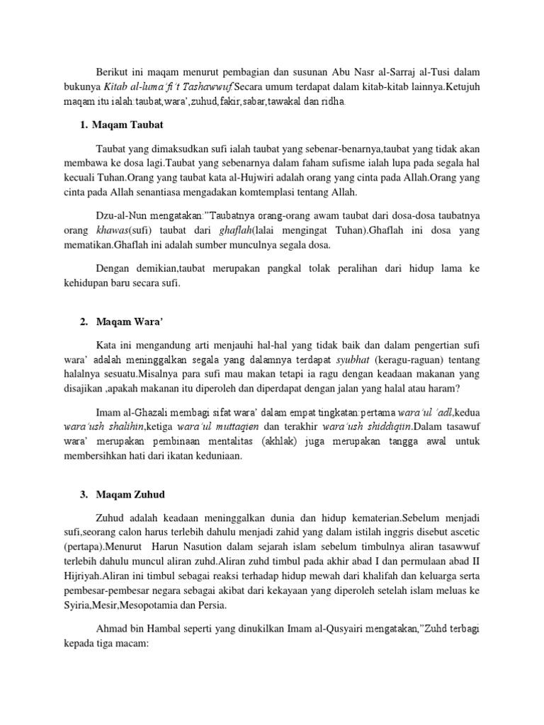 Berikut Ini Maqam Menurut Pembagian Dan Susunan Abu Nasr Al