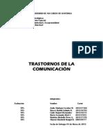 TRASTORNOS DE LA COMUNICACIÓN