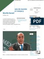 06-03-14 Aprobado, formato de reunión de diputados con Lozoya y Murillo Karam