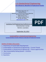 Sustainability in Geotechnical Engineering.26795531