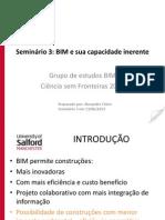 Seminário 3 - BIM e sua capacidade inerente