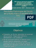 Resultados Preliminares del Estudio de la Huella Hídrica Extendida en el Perú