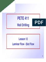 12 Laminar Flow Slot Flow