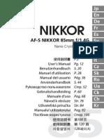 NIKON AFS85_1.4G