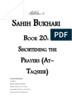 Sahih Bukhari - Book 20 - Shortening the Prayers Taqseer