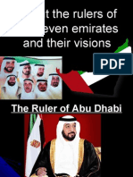 About the Rulers of the Seven Emirates and Their Visions