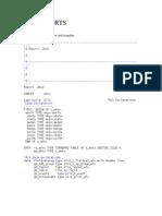 Sample Alv Reports