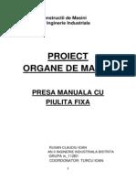 Proiect Organe de Masini Rusan Claudiu-Ioan