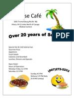 Paradise Café menu