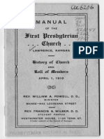 Manual of the First Presbyterian Church, Lawrence, Kansas