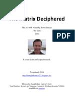 The Matrix Deciphered Robert Duncan Nov 2010 276p