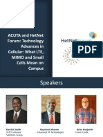 HetNetForum - Techonlogy Advances in Cellular -LTE_MIMO_Small-Cells