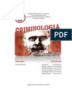 Criminologia. Durkheim