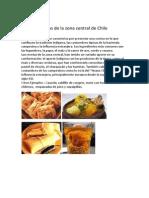 Comidas típicas de la zona central de Chile