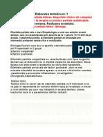 1Edentatia partiala intinsa. Aspectele clinice ale campului protetic. Indicatii la terapia cu proteze partiale mobilizabile