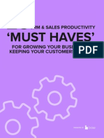 25 CRM & Sales Productivity 'Must Haves' For Growing Your Business & Keeping Your Customers Happy
