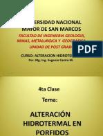 4ta clase, alteración hidrotermal en pórfidos