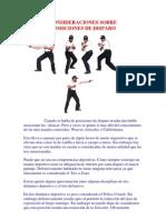 POSICIONES DE DISPARO