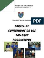 Cartel de Contenidos de Los Talleres Productivos.